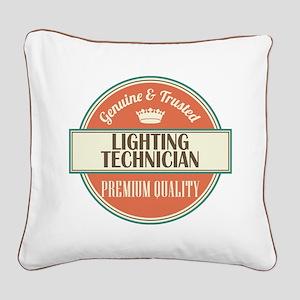 lighting technician vintage l Square Canvas Pillow