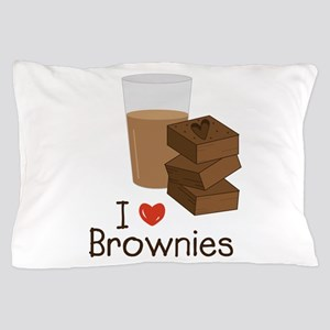 I Love Brownies Pillow Case