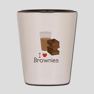 I Love Brownies Shot Glass
