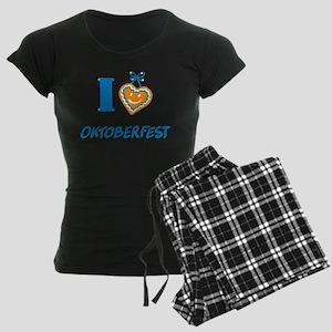 I love Oktoberfest Women's Dark Pajamas