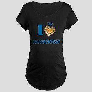 I love Oktoberfest Maternity T-Shirt