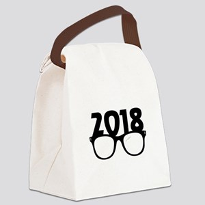 2018 Glasses Canvas Lunch Bag