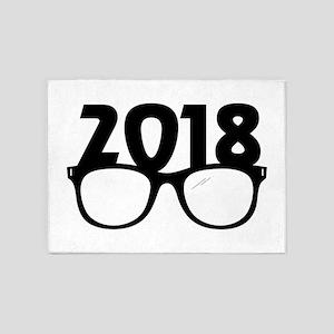 2018 Glasses 5'x7'Area Rug