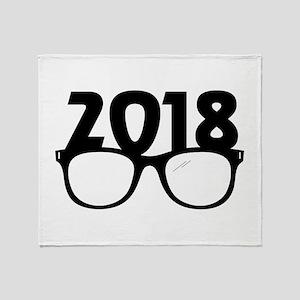 2018 Glasses Throw Blanket