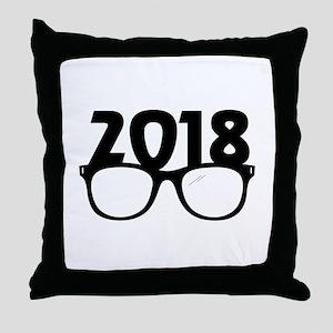 2018 Glasses Throw Pillow