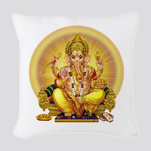 GANESH Woven Throw Pillow