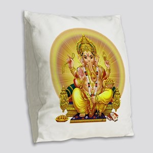 GANESH Burlap Throw Pillow