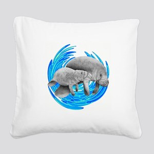 MANATEE Square Canvas Pillow