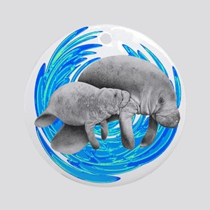 MANATEE Round Ornament