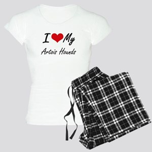 I Love my Artois Hounds Women's Light Pajamas