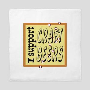 Craft Beers Queen Duvet