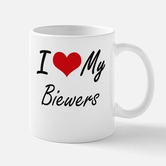 I Love my Biewers Mugs