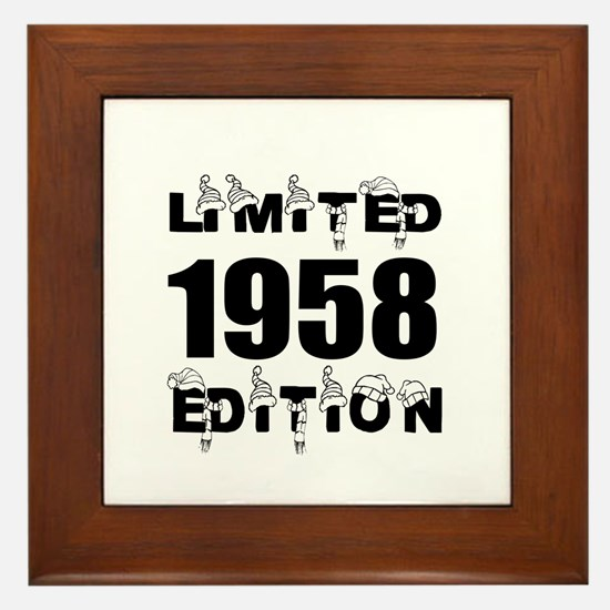 Limited 1958 Edition Birthday Designs Framed Tile