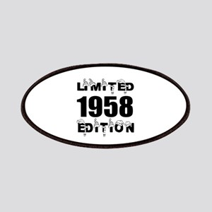 Limited 1958 Edition Birthday Designs Patch