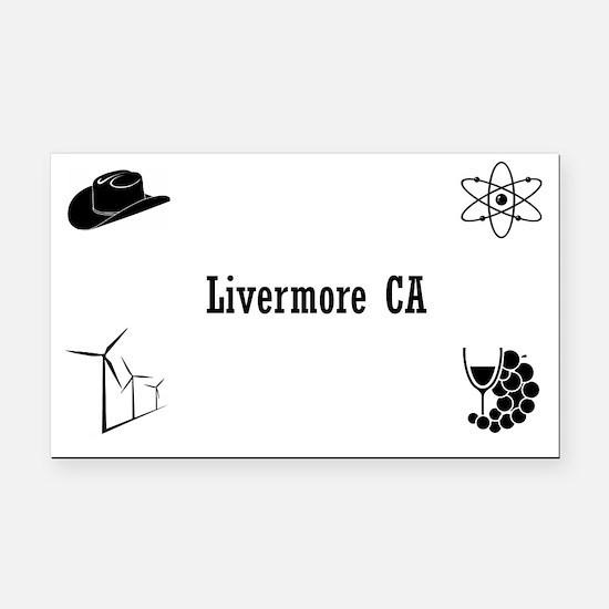 Unique Livermore Rectangle Car Magnet