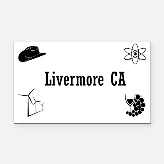 Funny Livermore Rectangle Car Magnet