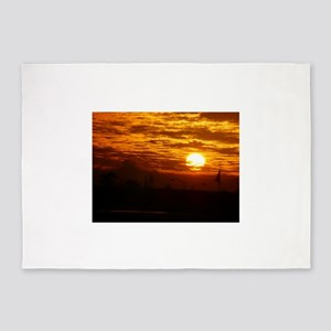 the rising sun 5'x7'Area Rug