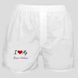 I Love my Bracco Italianos Boxer Shorts