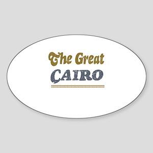 Cairo Oval Sticker