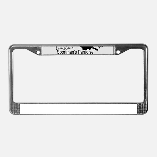 Louisiana Silhouette Sportman' License Plate Frame