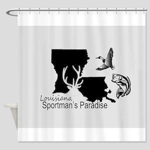 Louisiana Silhouette Sportman's Par Shower Curtain