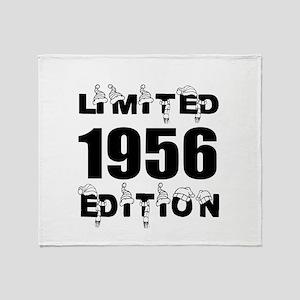 Limited 1956 Edition Birthday Design Throw Blanket