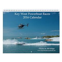 Key West Powerboat Races 2016 Wall Calendar