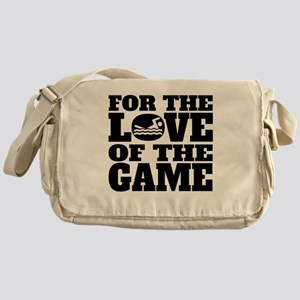For The Love Of The Game Swimming Messenger Bag