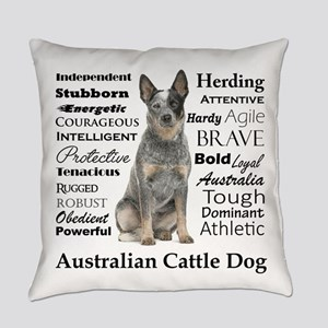 Cattle Dog Traits Everyday Pillow