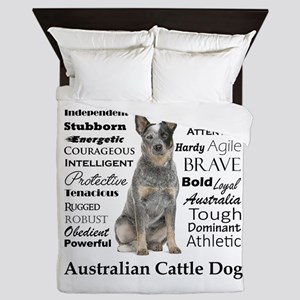Cattle Dog Traits Queen Duvet