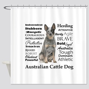 Cattle Dog Traits Shower Curtain