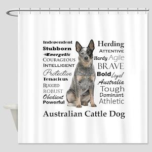 Cattle Dog Traits Shower Curtain