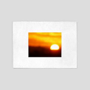 warm rising sun 5'x7'Area Rug