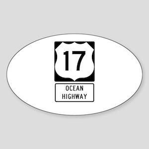 US Route 17 Ocean Highway Sticker