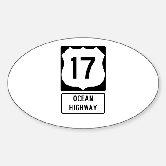 US Route 17 Ocean Highway Decal