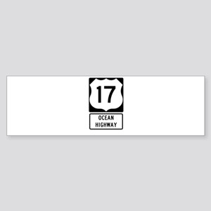 US Route 17 Ocean Highway Bumper Sticker