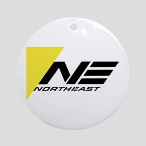 Northeast Airlines Brand Round Ornament