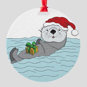 Sea Otter Christmas Ornament