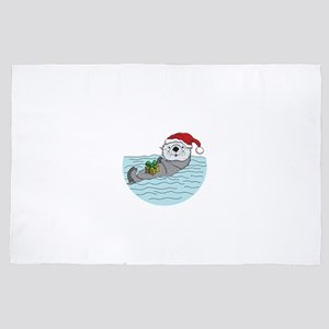 Sea Otter Christmas 4' x 6' Rug