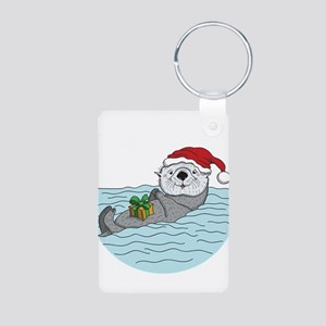 Sea Otter Christmas Keychains