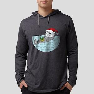 Sea Otter Christmas Long Sleeve T-Shirt
