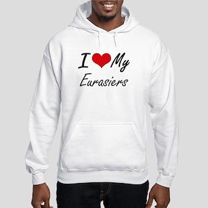 I Love my Eurasiers Hooded Sweatshirt