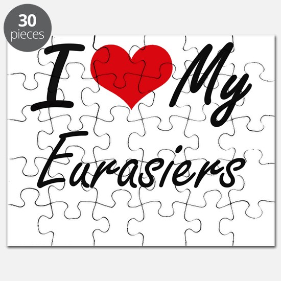 I Love my Eurasiers Puzzle
