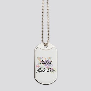 Naked Mole-Rats artistic design with flow Dog Tags