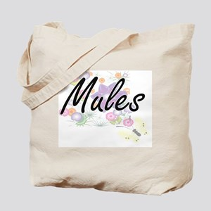 Mules artistic design with flowers Tote Bag