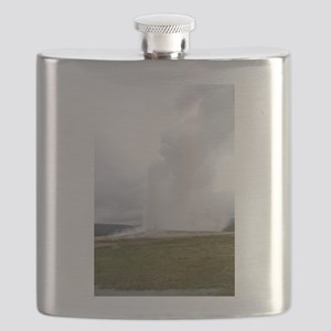 Old Faithful Yellowstone National Park Flask
