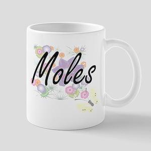 Moles artistic design with flowers Mugs