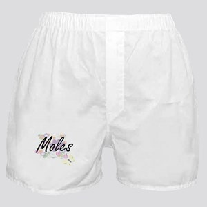 Moles artistic design with flowers Boxer Shorts