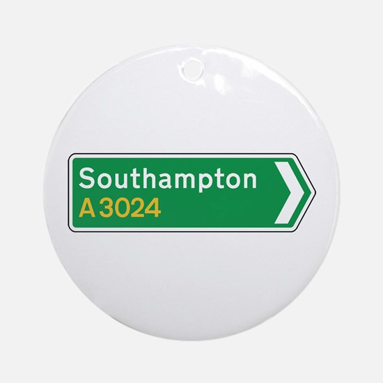 Southampton Roadmarker, UK Ornament (Round)