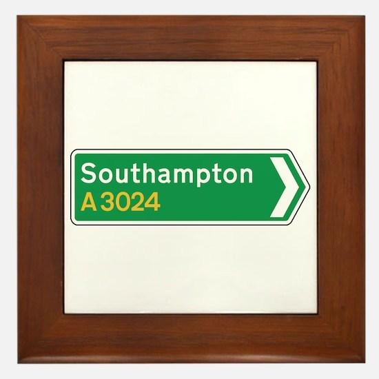 Southampton Roadmarker, UK Framed Tile